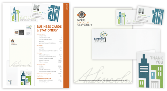 business stationery catalog for wholesale printing from navitor